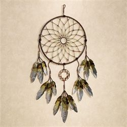 Native Dreams Metal Wall Sculpture Brown
