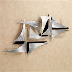 Fracture Metal Wall Sculpture Silver