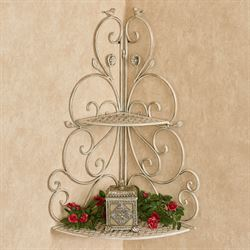 Wings of Love Corner Wall Shelf Creamy Gold