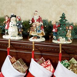 Night Before Christmas Stocking Holders Multi Jewel Set of Three