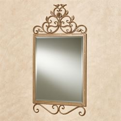 Wings of Love Wall Mirror Satin Gold