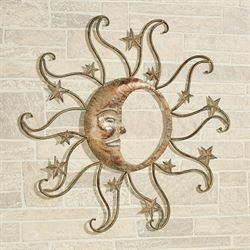 Sun And Moon Wall Art Tarnished Gold