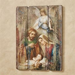 Holy Family Wall Art Plaque Multi Warm