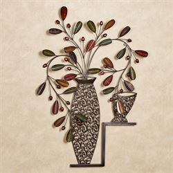 Candelaria Vase Wall Art Decor Multi Jewel