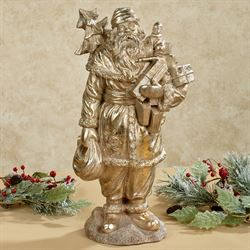 Old World Santa Sculpture Gold