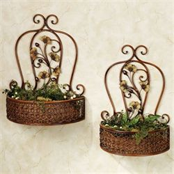 Ginkgo Wall Basket Set