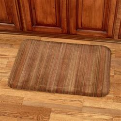 Heavenly Stripe Comfort Mat Mahogany 32 x 22