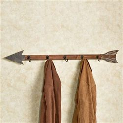 Arrow Wall Hook Rack Natural