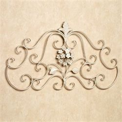 Hydrangea Delight Metal Wall Grille Creamy Gold