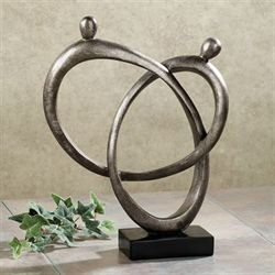 Continuous Love Table Sculpture Dark Gray