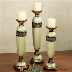 Estelle Citron Candleholder Set Set of Three