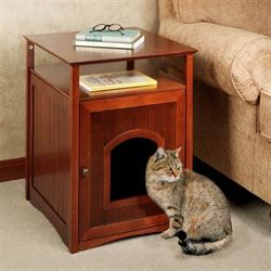 Sadie Accent Table Pet House Natural Cherry