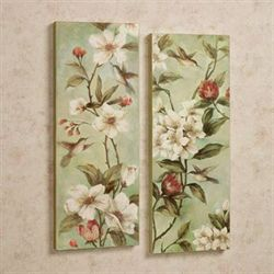 Magnolia Splendor Wall Art Set Multi Cool Set of Two