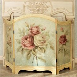 Rose Delight Fireplace Screen Multi Pastel