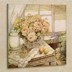 Decadent Setting Canvas Wall Art Multi Pastel