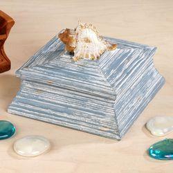 Seaside Trophy Covered Box Powder Blue