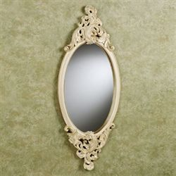 Rose Marie Oval Mirror Ivory/Gold