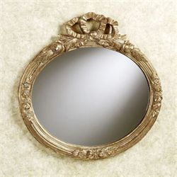 Ribbon Oval Wall Mirror Gold