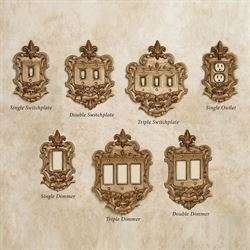 Royal Single Switchplate Aged Gold