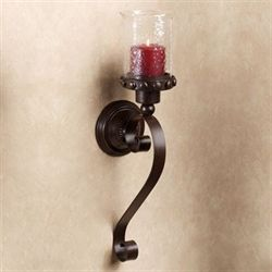 Malachi Hurricane Wall Sconce Dark Brown