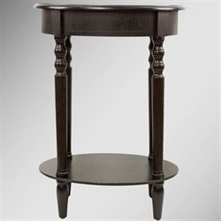 Reigna Oval Accent Table Espresso