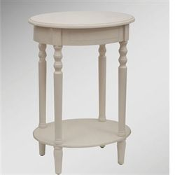 Reigna Oval Accent Table Antique White