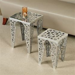 Gabryelle Accent Table Set Aluminum
