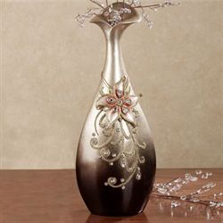 Alina Handpainted Vase Brown