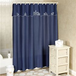 Sanibel Shower Curtain Indigo 70 x 72