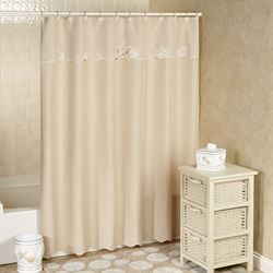 Sanibel Shower Curtain Sand 70 x 72