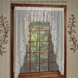 Fairmount Lace Swag Valance Pair 56 x 38