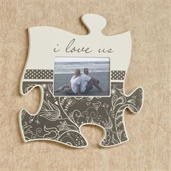 I Love Us Quote Photo Frame Cream