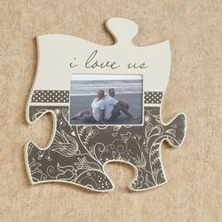 I Love Us Quote Photo Frame Cream