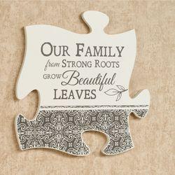 Our Family Quote Puzzle Piece Cream