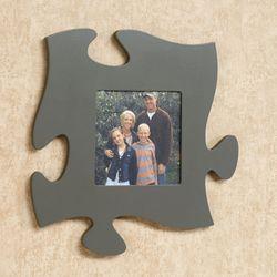 Puzzle Piece Photo Frame Dark Gray