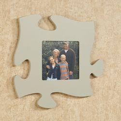 Puzzle Piece Photo Frame Gray