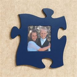 Puzzle Piece Photo Frame Navy