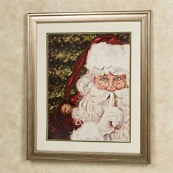 Secret Santa Framed Wall Art Red