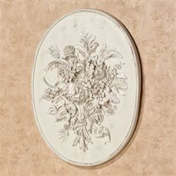 Floral Bouquet Wall Plaque Weathered White