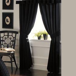 Lenox TimelessTM Wide Solid Black Curtains