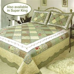 Ashley Patchwork Quilt Olive