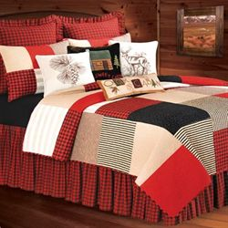 Boulder Ridge Quilt Dark Red