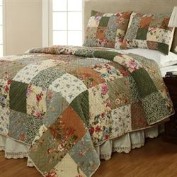 Naomi Patchwork Quilt Set Multi Warm