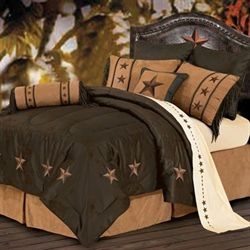 Laredo Comforter Bed Set Chocolate