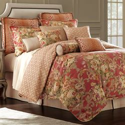 Floral Bouquet Comforter Set Red