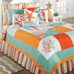 fiesta key coastal patchwork quilt bedding - Touch Of Class Bedding