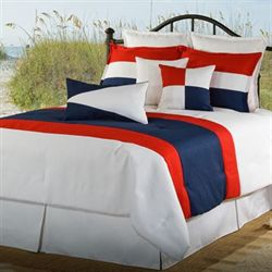 Nautical Latitudes Comforter Set White