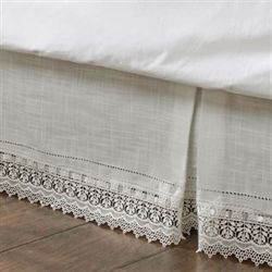 Sophia Kick Pleat Bedskirt Ivory