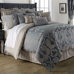 Chateau Lake Comforter Set Dark Blue
