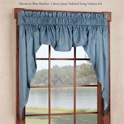 Sturbridge Tailored Swag Valance Set 106 x 38
